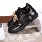 versace chaussures sport solde leather black